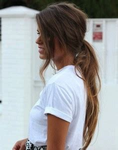 romantic updo for inverted triangle cute messy ponytail hairstyle