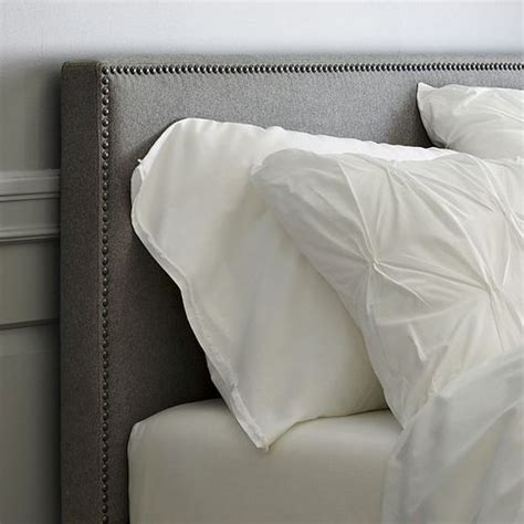 fabric headboard pinterest headboards upholstered headboards and west elm on pinterest