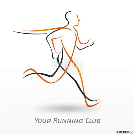 Emblem Logo Running quot logo sport running club quot stock image and royalty free