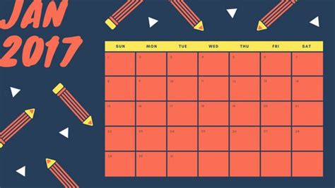 Calendar Template Canva