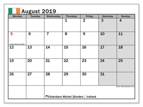 august  calendar ireland michel zbinden en