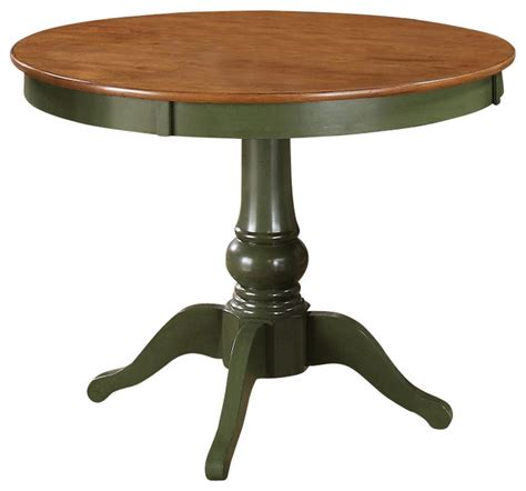 Green Dining Table by Steve Silver Candice 42 Inch Dining Table In Oak And