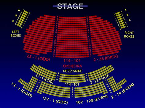 eugene oneill theatre seating views eugene o neill book of mormon 3 d broadway seating chart