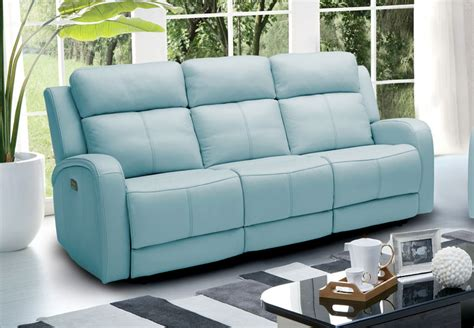 blue leather reclining sofa blue reclining sofa wayfair custom upholstery tricia