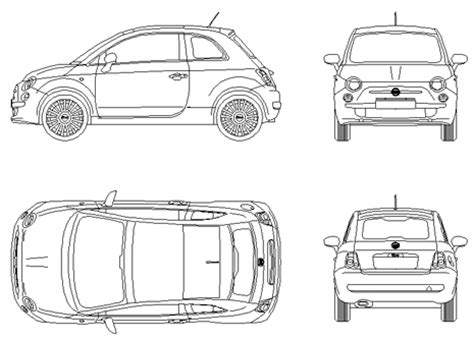 Fiat Automobili Cad Dwg Vw Coloring Page