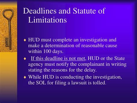 Section 1983 Statute Of Limitations by Ppt The Fair Housing Act Rights And Remedies Powerpoint