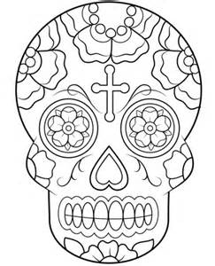 Day Of The Dead Calavera Outline by Calavera Sugar Skull Coloring Page Free Printable Coloring Pages