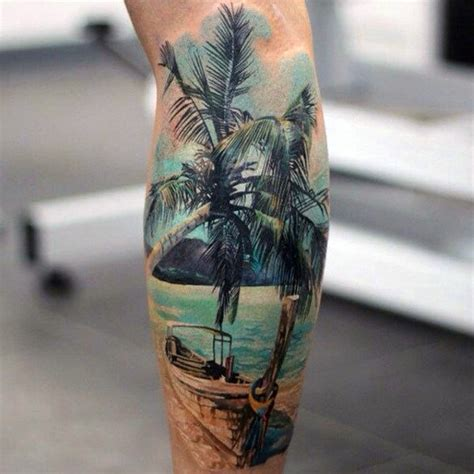 palm tree tattoos for men 100 palm tree tattoos for tropical design ideas