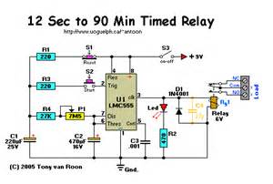 timed relay 12 seconds to 90 minutes circuit wiring diagrams