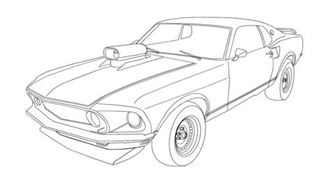 1969 boss mustang car coloring pages best place to color mustang stencils pinterest mustang and cars