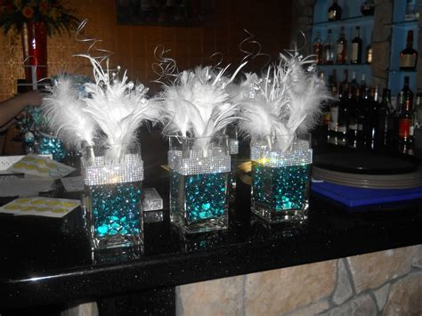 30th birthday centerpieces themed centerpieces for 30th birthday glass vases were purchased from a