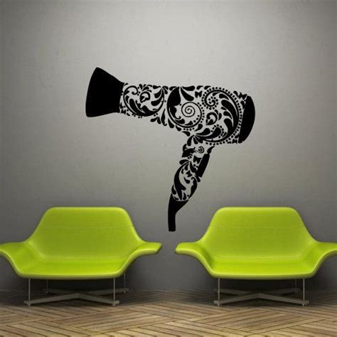 Hair Dryer Stiker wall decal decor decals sticker hair salon by