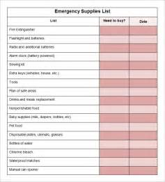 Supply List Template supply inventory template 5 free word excel pdf