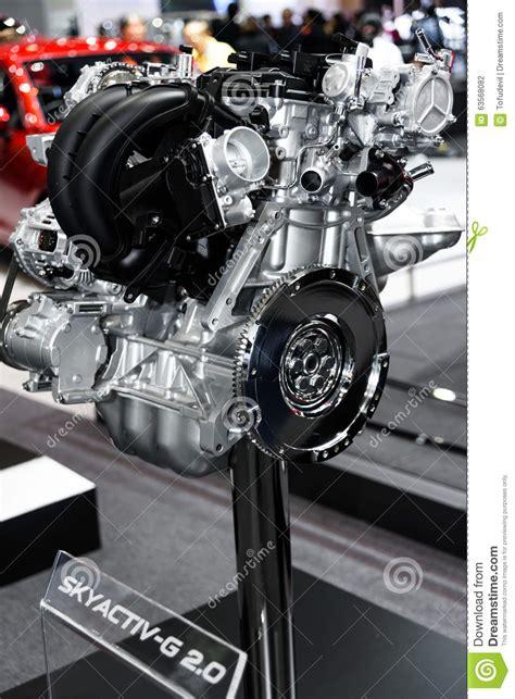 how cars engines work 2011 mazda mazda3 electronic valve timing skyactiv g 2 0 engine of mazda car editorial photography image 63568082