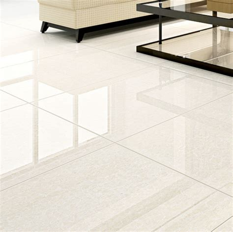 high gloss white pulati polished porcelain floor tiles for