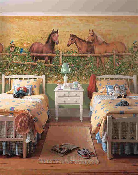 horsey bedrooms horse murals 2017 grasscloth wallpaper