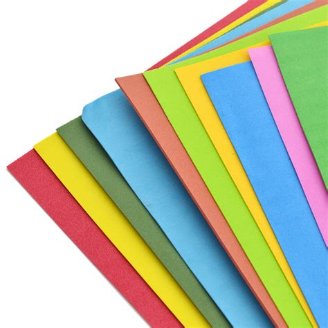 sponge paper craft 10 sheets thick multicolor a4 sponge foam paper