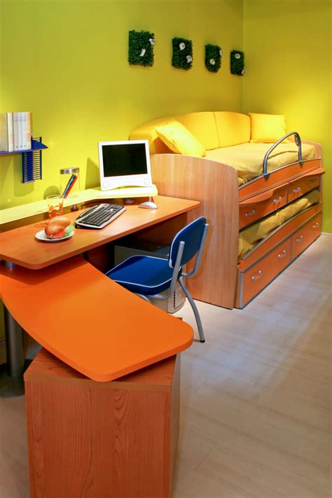 Syracuse Orange Bedroom Table L by 35 Kid S Bedroom Ideas And Designs Pictures