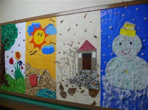 Seasons Board learning with miss petsinis science chalkboard