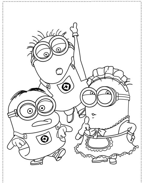 coloring pages for boy and girl the minion character girl and boy coloring pages