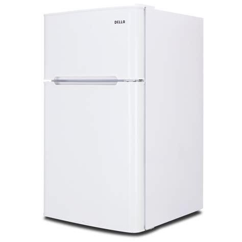 2 Door Mini Fridge With Freezer by 3 2 Cu Ft Mini Refrigerator Freezer Small Fridge 2 Door Office Cooler White Ebay