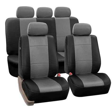 3 Seat Covers by 3 Row Pu Leather Seat Covers Airbag Safe Split Bench