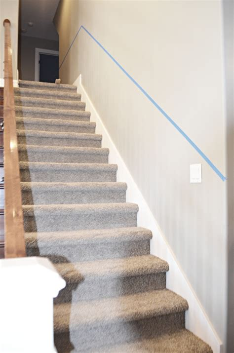 stair chair rail staircase makeover how to install molding remington avenue