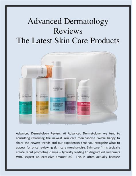 Product Review Nerida Skincare by Advanced Dermatology Reviews The Skin Care Products
