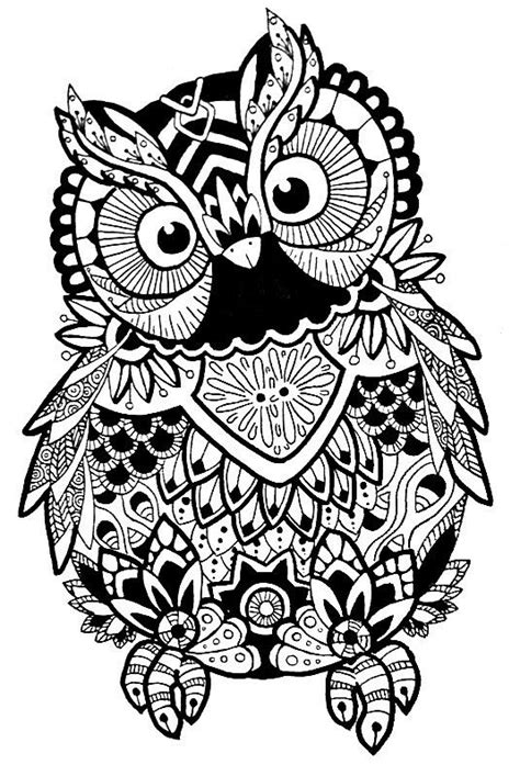 intricate owl coloring pages 128 b 228 sta bilderna om coloring pages free downloads and