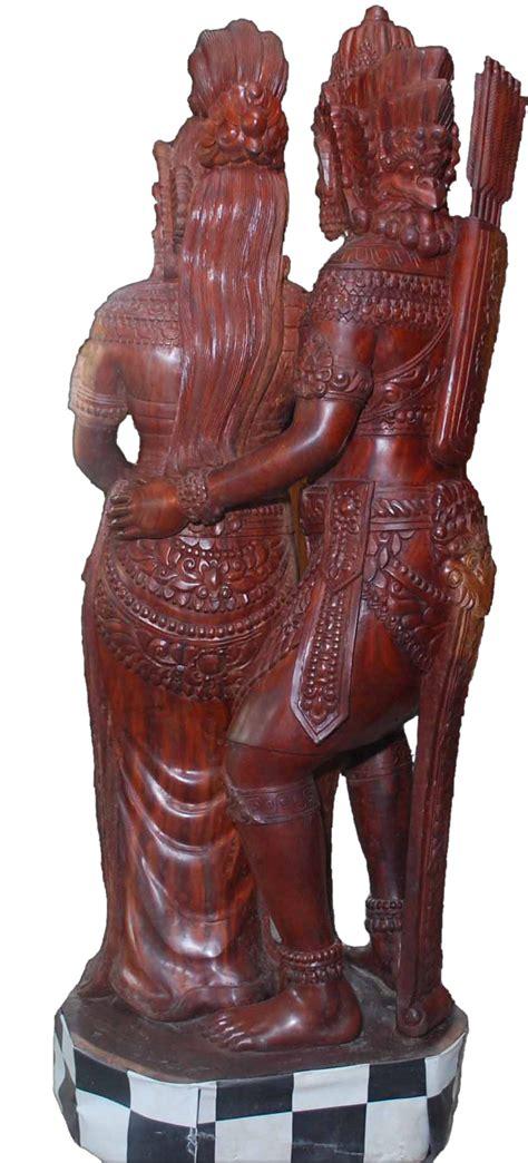 Tilavie Patung Kepala Singa Kayu Mahoni seni pahat patung quot joglo quot