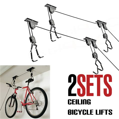 ceiling mount bike rack bike bicycle lift ceiling mounted hoist storage garage