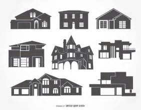 haus silhouette house silhouettes collection vector
