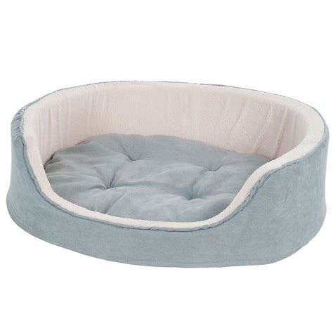 large round dog bed petmaker large gray cuddle round suede terry pet bed 80