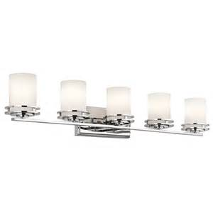 Chrome Bathroom Light Fixtures Kichler Lighting 5085ch Hendrik 5 Light Bath Fixture In Chrome