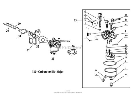 troy bilt tiller carburetor diagram troy bilt 170 au engine parts diagram for 170 au carburetor