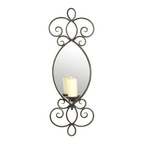 Kirklands Wall Sconces Mirrored Metal Scroll Sconce Kirklands Wall Sconces Pinterest Sconces Metals And Products