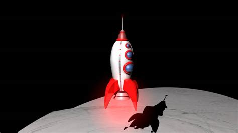 How To Make A 3d Rocket Out Of Paper - 3d animation rocket ship