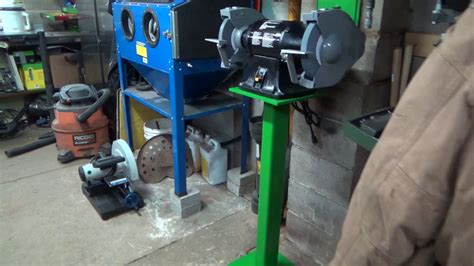 how to mount a bench grinder mounting the new bench grinder and custom stand youtube