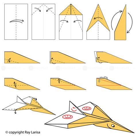 How To Make A Paper Jet Step By Step Easy - jet animated origami how to make origami
