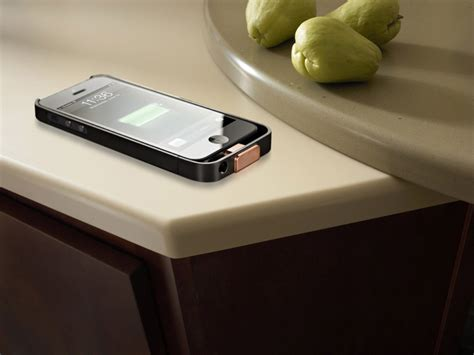 iphone 6 corian wirelessly charge your device on dupont corian tabletops