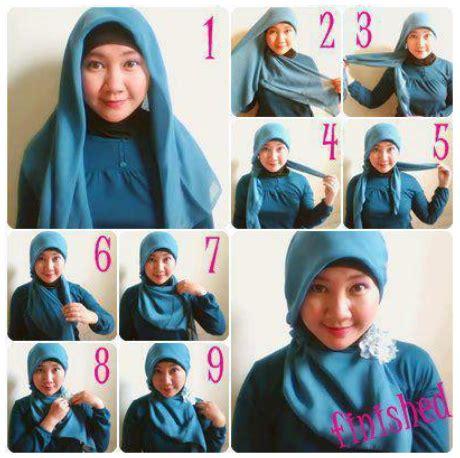 tutorial hijab untuk wajah bulat 2015 tutorial hijab modern untuk wajah bulat