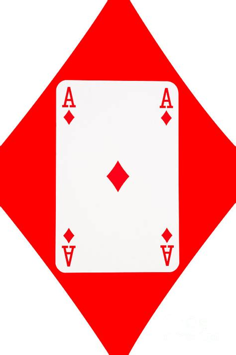 ace card template cards ace of diamonds on white background