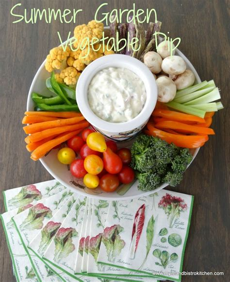 Summer Garden Vegetable Dip My Island Bistro Kitchen Garden Vegetable Dip