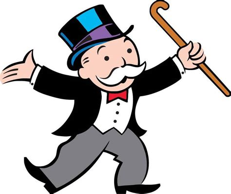 Removable Wall Stickers For Baby Room monopoly man decal removable wall sticker decor art game