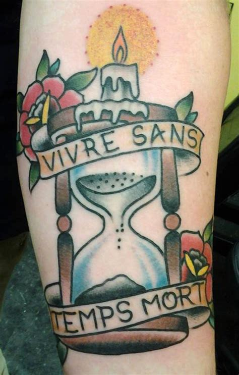 sand timer tattoo by jack gribble northeast tattoo