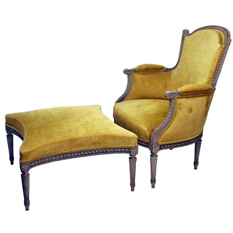 french ottoman furniture french bergere chair with ottoman for sale at 1stdibs