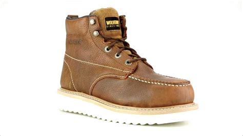 s wolverine w08289 steel toe wedge sole work boot