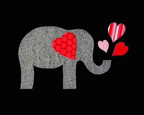 valentines elephant elephant applique template s day