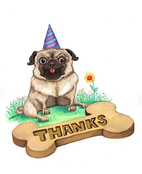 you pug thank you pug by mallory me on deviantart
