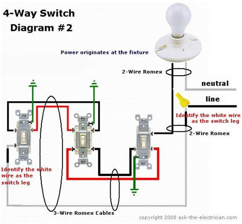 wiring diagram 4 way switch wiring diagrams